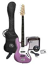SX Ursa 2 PK RN MPP Purple Bass Guitar Package w/Amp and Video Instruction