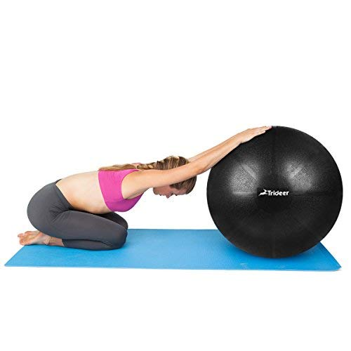 Trideer Exercise Ball (Multiple Color), Yoga Ball, Birthing Ball with Quick Pump, Anti-Burst & Extra Thick, Heavy Duty Ball Chair, Stability Ball Supports 2200lbs by Trideer (Image #4)