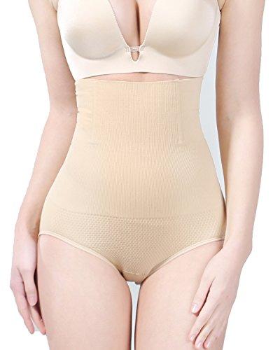 KOOCHY Tummy Control Shapewear for Women Seamless High Waist Slimming Body Shaper Butter Lifter Panties Shorts Thigh Slimmer(Beige,XS/S) (High Waist Slimmer Panty)
