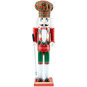 Darice Christmas Nutcracker Figurine 4 x 15 inches w Lumberjack