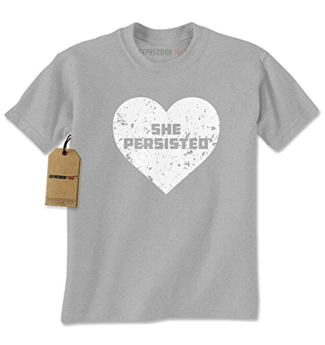 [Mens Heart She Persisted T-Shirt XX-Large Heather Grey] (Patriarchy Costume)