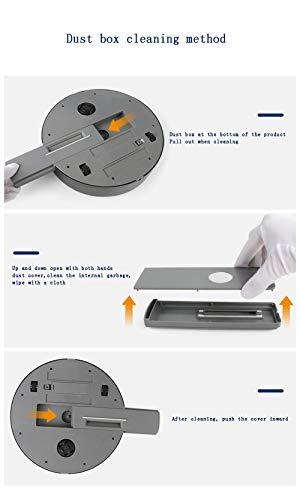 Aspirador Inteligente DC-5V20W Ruta De Planificación Rueda Universal, Control Remoto Inalámbrico Fuerte Aspiración Y Carga USB Anti-Gota 6 Cm Delgado, ...