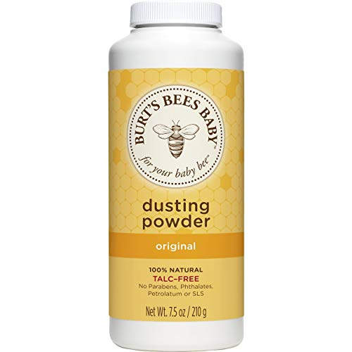 - Burt's Bees Baby 100% Natural Dusting Powder, Talc-Free Baby Powder - 7.5 Ounce Bottle (Pack of 1)