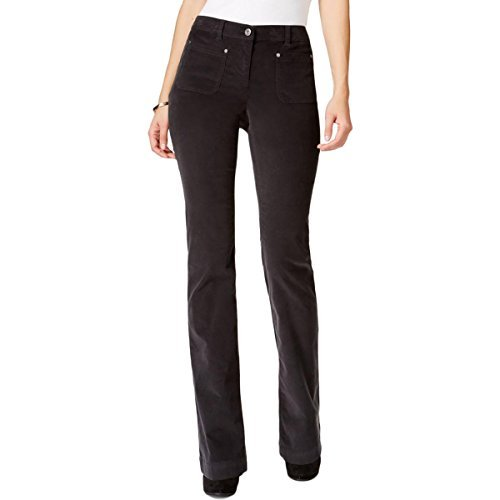 Style & Co. Womens Mid Rise Bootcut Corduroy Pants Gray 4