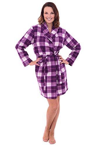 Del Rossa Women s Flannel Robe 0b77524e0