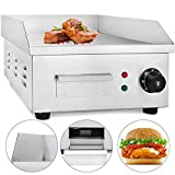 VEVOR Electric Countertop Griddle 14' Commercial Restaurant Grill 2000W Stainless Steel Electric Griddle Temperture Control Commercial Grills for Restaurant