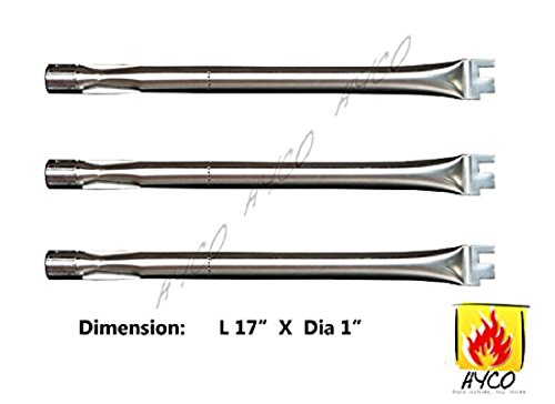 Best Deals! Vicool hyB304 (3-pack) Stainless Steel Burner Replacement for BBQ Grillware, Ducane, Hom...