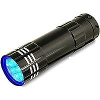 mundoGadget Mini lampara UV, luz ultravioleta, Luz Negra, Verifica Billetes