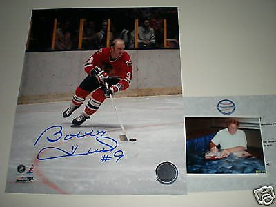 Bobby Hull Chicago Blackhawks Signed 8x10 w/picture SidsGraphs