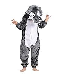 Children's Halloween Cosplay Wolf Animal Pajamas Animal Onesie sleepwear