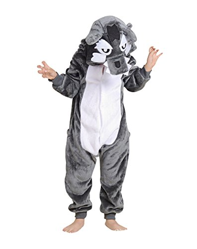 Children's Halloween Cosplay Wolf Animal Pajamas Animal Onesie sleepwear (S (45