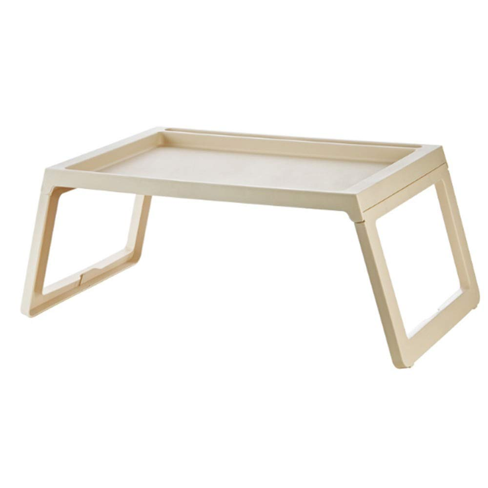 BWAM-fur Stable Folding Computer Desk Laptop Tray Desk Foldable Lap Table Bed Tray, TV Tray Floor Table for Home Office Table Desk (Color : Beige, Size : 6835.827.5cm)