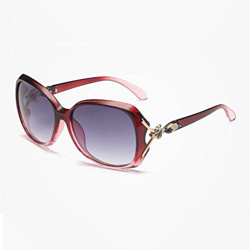 Red Gradient Señoras Conducción Libre Gray Frame Lens de LX Nueva Gafas Aire Deportes Color al Gafas Lens Clásica Black Las Gray Moda de de Sol Frame Gradient LSX P4qYg