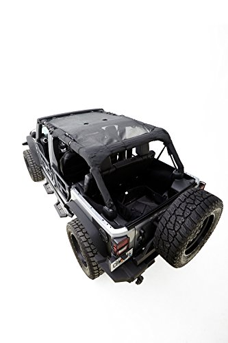 Rampage-Products-90525-Black-Mesh-Shade-Top-for-4-Door-Jeep-JK-Wrangler-Unlimited