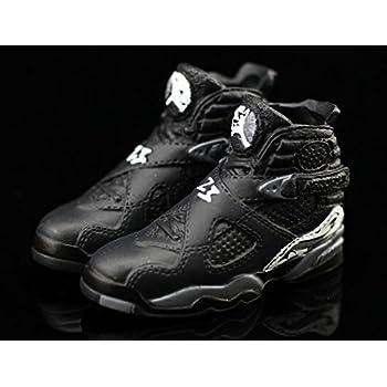 791e7a77ce3 Air Jordan VIII 8 Retro Chrome Black Grey OG Sneakers Shoes 3D Keychain  Figure 1: