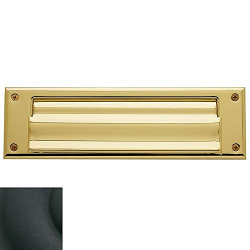 Baldwin Hardware 0017.190 Universal Satin Black Letter Box Plate Magazine Size Including Covered Hinging Back Plate