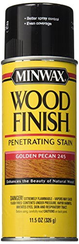 Minwax 32450000 Wood Finish Penetrates, Stains & Seals Aerosol Spray, 11.5 ounce, Golden Pecan ()