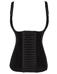 Ekouaer Women\'s Latex Underbust Waist Training Steel Boned Shapewear Corset,XL