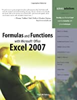 Formulas and Functions with Microsoft Office Excel 2007 Front Cover