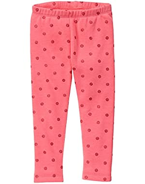 Baby Girls' Pink Dot Cozy Fleece Legging