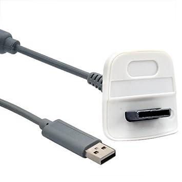 Accessotech Cargador USB Cable para Microsoft Xbox 360 ...