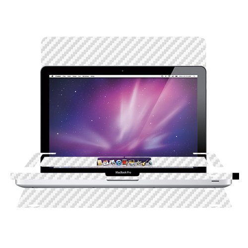 Skinomi-TechSkin-Apple-Macbook-Pro-15-Carbon-Fiber-Silver-Full-Body-Skin-Protector-2009-2012-Front-Back-HD-Clear-Film-Ultra-Invisible-Anti-Bubble-Shield