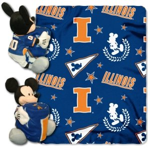 The Northwest Company Illinois Fighting Illini Disney Hugger Blanket (Blanket Fighting Illini)