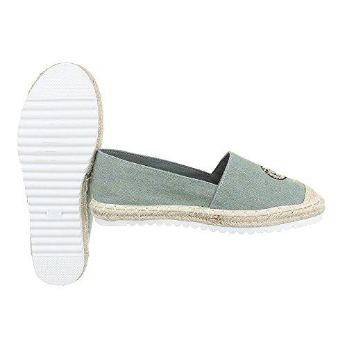 Ital-Design - Sandalias de vestir de Material Sintético para mujer Grau Grün CV-355