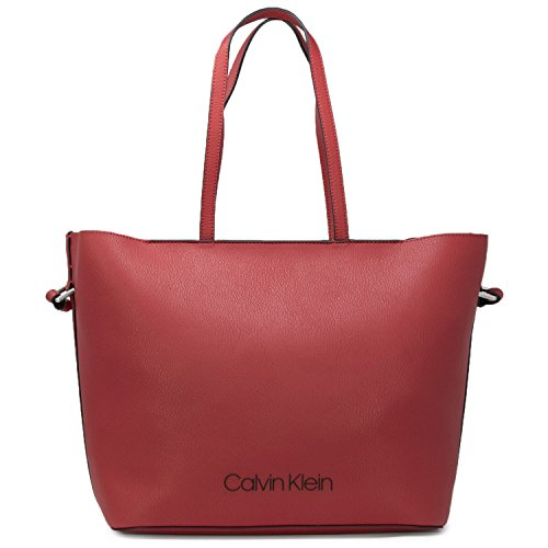 POP uni COLOR Klein MAIN rouge K60K604286 Rouge Calvin TOUCH À SHOPPER SAC FEMME XgwqnU4q