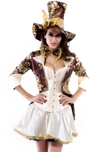DarlingLove Women's Tea Party Hatter Costume Outfit XL (Modern Vampire Costumes)