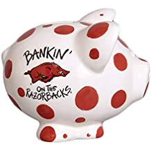 Ceramic Collegiate Piggy Bank Arkansas Razorbacks