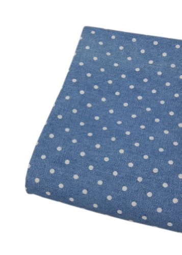 59'' Wide Home Fabrics Washed Denim Fabric Mazarine, One Yard(B)