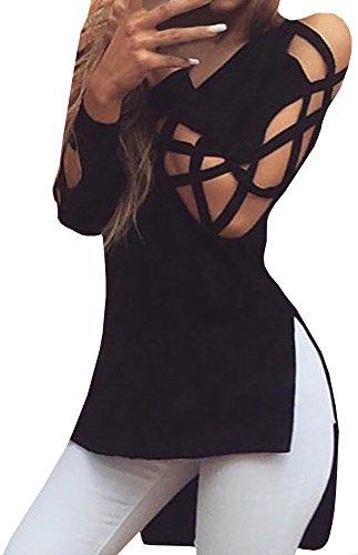 Ybenlow Womens Lace Shirt Blouse
