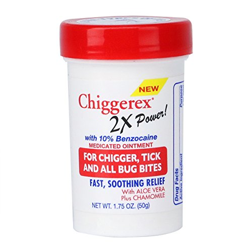 Chiggerex 2X Power Medicated Ointment- For Relief from Chigger Bites, Mosquito Bites and Bites from Most Insects
