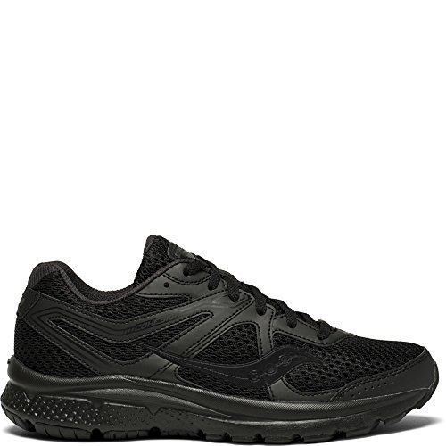 Saucony Women's Cohesion 11 Running Shoe, Black, 8.5 Medium US