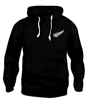 rétro Nuova Zelanda rugby Felpa con cappuccio NUOVE DIMENSIONI S-3XL LOGO RICAMATO Old School Football