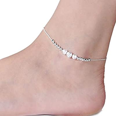 """Anklet-Burning Love Frosted beads style Ankle chains No fading foot chains for Female fashion jewelry Size 10.04"""""""