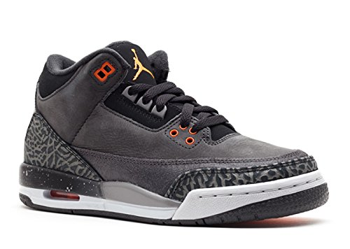 Nike Air Jordan 3 Retro Grade School Size (Night Stadium / Total Orange / Black / Natural Grey) 626968-040 (7) by NIKE