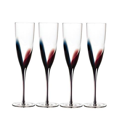 Mikasa Color - Mikasa Kya Champagne Flute, 6.5-Ounce, Set of 4