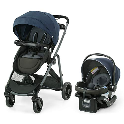 Graco Modes Element LX Travel System | Includes Baby Stroller with Reversible Seat, Extra Storage, Child Tray, One Hand Fold and SnugRide 35 Lite LX Infant Car Seat, Lanier