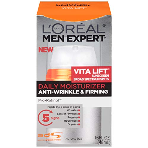 41wknlQomtL - L'Oreal Paris Skincare Men Expert Vita Lift Anti-Wrinkle & Firming Face Moisturizer with SPF 15 and Pro-Retinol 1.6 fl. oz.