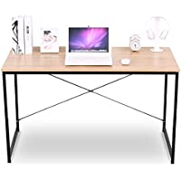 WOLTU Corner Computer Desk Simple Design Wood and Metal Laptop Desk in Home Use Woodlook