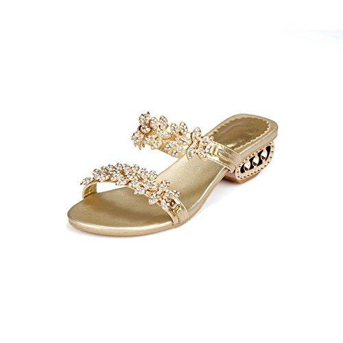 Gold Mädchen Soft Material Komfort BalaMasa Sandalen Anzieh dYtfdq