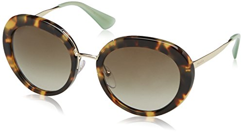 Prada Women's 0PR 16QS Medium Havana/Green Gradient Sunglasses