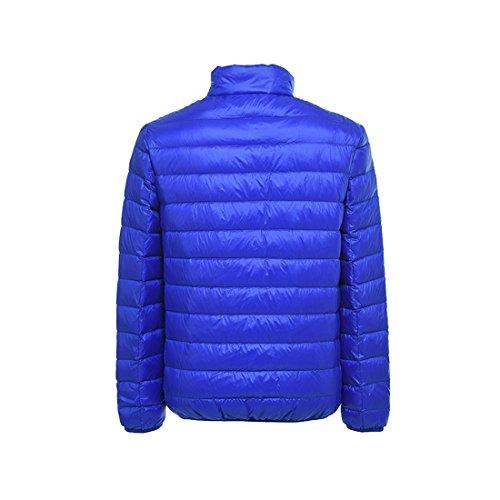 Del Leggero Basamento Outwear Acvip Collare Degli Blu Giù Uomini Inverno Piumino wAXqRt