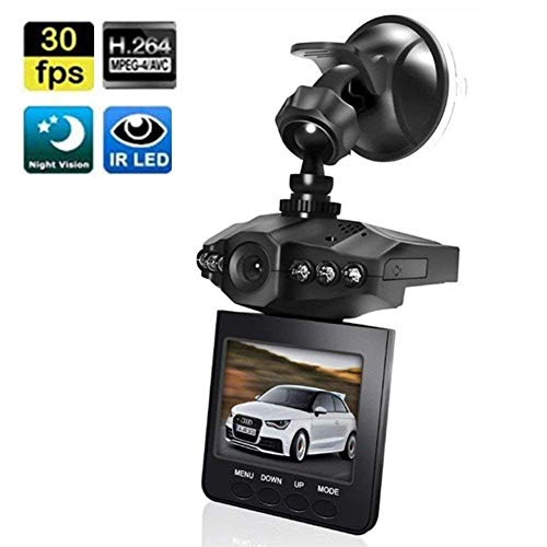 Dash Cam, Car Dashboard Camera Recorder with 2.5' Wide View Angle LED Night Mode Dash Camera Dashboard Recorder Loop Recording