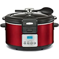 Bella Red 5 Qt. Programmable Slow Cooker