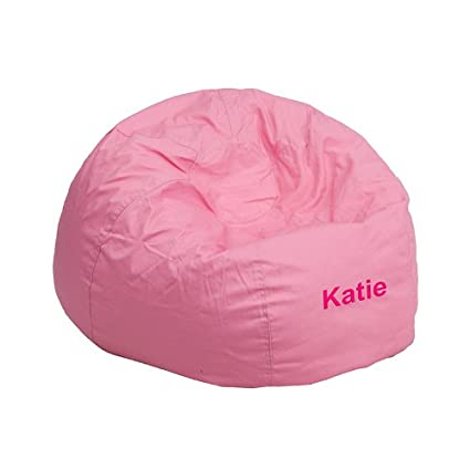 Beau Flash Furniture Personalized Small Solid Light Pink Kids Bean Bag Chair