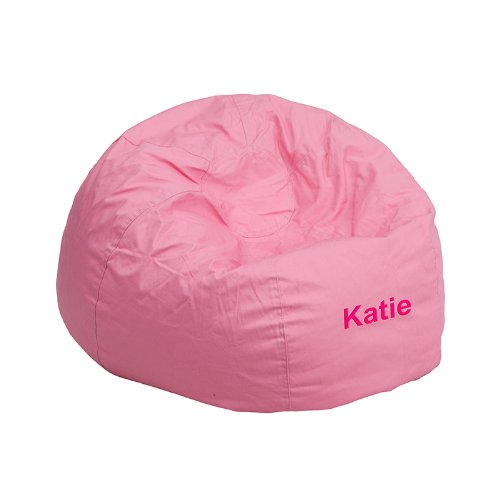 Personalized Bean Bag Chair - Flash Furniture Personalized Small Solid Light Pink Kids Bean Bag Chair