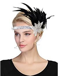 Urban CoCo Women's Fascinator Feather Flower Hair Clip Headwear Bridal Headpieces